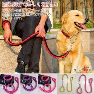 リードと首輪セット首輪セットリードセット首輪2点セット小型犬中型犬大型犬犬首輪犬用リード散歩お出かけ...