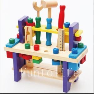 「新作感謝価格セール」知育玩具 1歳 〜4歳木のおもちゃ 出産祝い ウッデントイ ちいさなだいくさん...