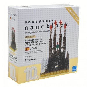 サグラダファミリア クリアVer. 10周年記念 ナノブロック nanoblock NBH-005R