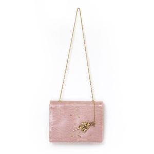 GRAZIELLA グラッツィエラ ショルダーバッグ イグアナ 本革 ピンク 高木ミンク ファクトリー Fur-ctory 送料無料|fur-ctory