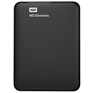 (中古品)WD HDD ポータブルハードディスク 1TB WD Elements Portable WDBUZG0010BBK