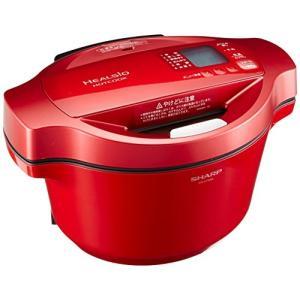 (中古品) シャープ ヘルシオ(HEALSIO) ホットクック 水なし自動調理鍋 1.6L レッド ...