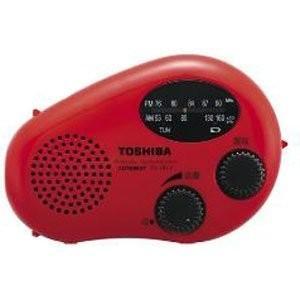 (未使用品) TOSHIBA 防水充電ラジオ CUTEBEAT TY-JR11(R)  【メーカー名...