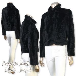 ご愛顧感謝☆★☆現品限 しっとり柔らかなボレゴラムブラックジャケット|furaurore