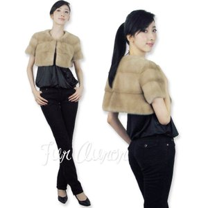 SAGAパロミノミンク衿無しボレロ 日本製|furaurore