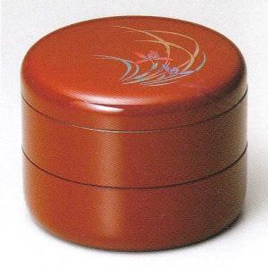 重箱 古代朱 丸2段重6.5寸 蘭(20-83-9)|fureaigift