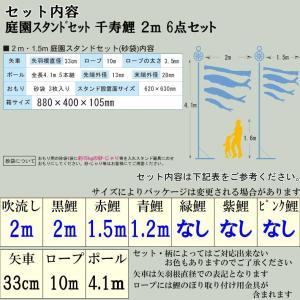 こいのぼり 鯉のぼり おしゃれ 庭園スタント゛セット 千寿鯉 2m 6点セット|fureaigift|03