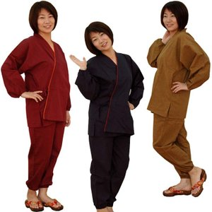 女性用作務衣 民芸さむえ オールシーズン 3色(M/L)綿100%(2枚以上で送料無料)|fureaigift