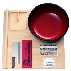 豊稔 普及型麺打セット 大 そば・うどん麺打入門DVD付 A-1260  代引き決済不可商品|fureaigift