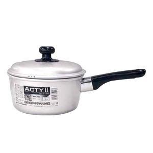 アルマイト アクティII 片手鍋 AKT-E7 商品No(5-0054-1601)内径14cm fureaigift