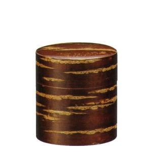 総皮茶 平型茶筒100g入れ 桜皮細工(内側ブリキ)日本製(176bo30)|fureaigift