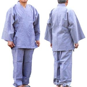 作務衣(さむえ) 麻混久留米織風爽やか作務衣 fureaigift