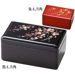 オルゴール付宝石箱 桜さくら 4.5角(20-18-8黒/20-18-9朱)|fureaigift