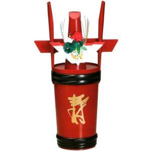 角樽 寿朱 朱 一升瓶用角樽寿朱(1升瓶が入れられます)(20-87-3)|fureaigift