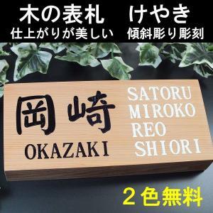 表札 木 木製のデザイン表札(けやき)|fureaiglassstudio1