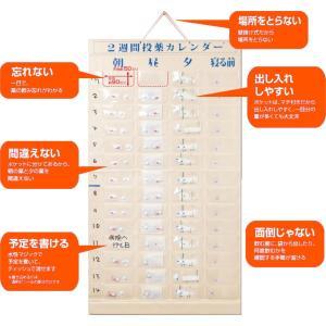 薬入れ 与薬・くすり整理2週間  投薬カレンダー  2週間分のお薬を1日4回に分けて収納できます。  服薬指導に お薬の飲み忘れを防ぎます。壁掛け用