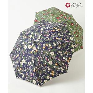 公式 ふりふ ハトの庭日傘 オリジナル 暑さ対策 日よけ UVカット 日傘 折りたたみ コンパクト 携帯 お花柄 折畳み式 黒 和柄 和風 上品 大人女子 母の日 furifu