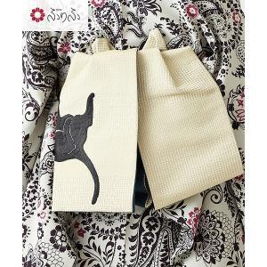 公式 ふりふ (WEB限定)ごろん猫結び帯 作り帯 結び帯 簡単帯 猫耳結び ごろん猫 猫 ねこ ネコ 浴衣 浴衣帯 半幅帯 半巾 日本製 国産 レトロ モダン|furifu