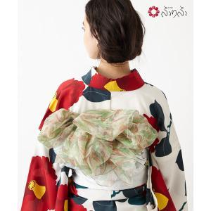 公式 ふりふ 花園マーブルヘコ ヘコ帯 着付け簡単 巻きやすい 半幅帯 半巾帯 大人 マーブル 小紋 きものyukata 結婚式 入学式 卒業式 パーティー 2次会|furifu