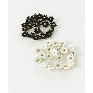 フラワーサークルヘッドドレス かんざし 髪飾り ヘアアクセ コーム ヘッドドレス 小花 フラワーサークル ブーケ風 和装 豪華 レトロ モダン 晴れの日 成人式|furifu