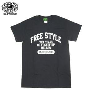 FREE STYLE FUCKIN' MELLOW CLOTHING FMC 限定 コラボ 半袖Tシャツ ブラック 新品|furisuta