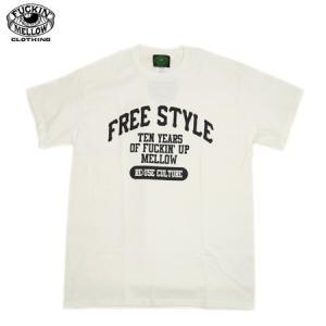 FREE STYLE FUCKIN' MELLOW CLOTHING FMC 限定 コラボ 半袖Tシャツ ホワイト 新品|furisuta