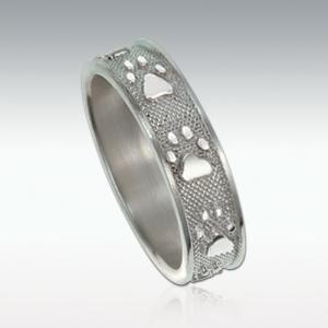 足型でつくる世界にひとつだけの遺影ジュエリー Perfect Memorials Paw Print Sterling Silver 6mm Ring 6ミリ幅 シルバーリング(指輪) 純銀製 (遺骨)