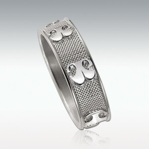 鼻型でつくる世界にひとつだけの遺影ジュエリー Perfect Memorials Nose Print Sterling Silver 6mm Ring 6ミリ幅 シルバーリング 純銀製 指輪 遺骨
