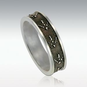 足型でつくる世界にひとつだけの遺影ジュエリー Perfect Memorials Foot Print Sterling Silver 6mm Ring 6ミリ幅 シルバーリング(指輪)(遺骨)