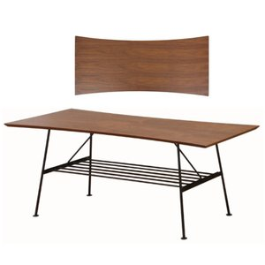 アンセム センターテーブル 形がおもしろい ウオールナット材とスチール 個性的|furniture-direct