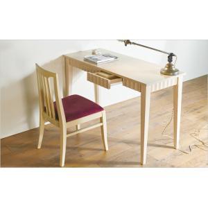スリムデスク アンティーク風 デスク 引き出し付き 120×50cm|furniture-direct