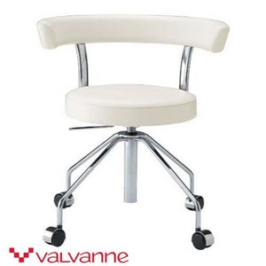 ラウンドアーム チェア Valvanne バルバーニ おしゃれなチェア 回転 キャスターつき FE-C380|furniture-direct