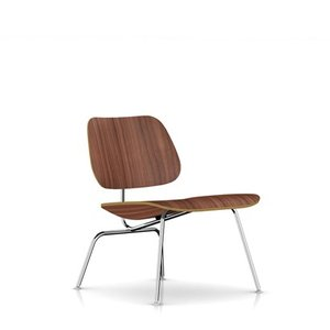 イームズ プライウッド ラウンジチェア ウオールナット メタルレッグ ハーマンミラー社|furniture-direct