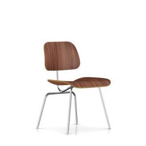 イームズプライウッドダイニングチェア メタルレッグ ウォールナット DCM ハーマンミラー社|furniture-direct