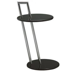 サイドテーブル アイリーングレイ ガラステーブル 円テーブル イタリア製 furniture-direct