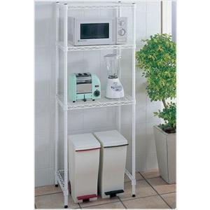 erecta  ホームエレクター キッチンラック HKR-02(ホワイト)|furniture-direct