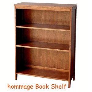 シンプル 木製 ブックシェルフ アンティーク風 オマージュ hommage|furniture-direct