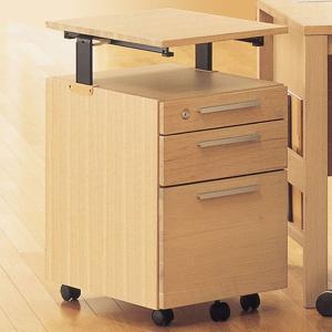 エルコディ用 レベルアップワゴン イトーキ サイドデスク  キャスター付き 収納ボックス|furniture-direct