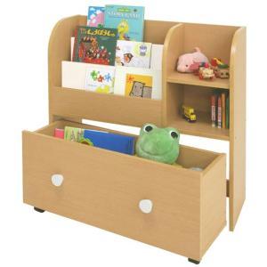 ネイキッズ kdr-2140na キッズ おもちゃ箱 付き 絵本ラック かわいい|furniture-direct