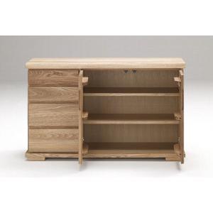 古彩 リビングボード 120cm サイズ オイル塗装 木目が綺麗 天然木|furniture-direct