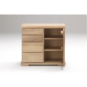 古彩 リビングボード 80cm サイズ オイル塗装 木目が綺麗 天然木|furniture-direct