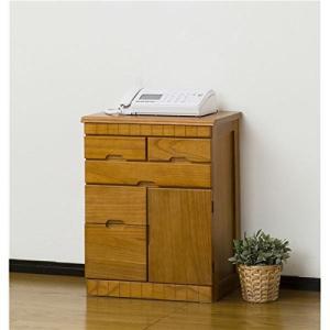 FAX台 電話台 温かみのある天然木 収納棚 花台としてつかっても|furniture-direct