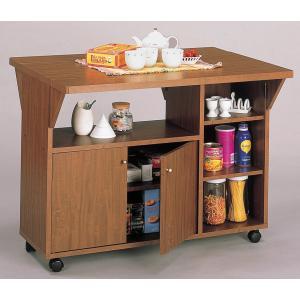 カウンターテーブル 両バタワゴン 天板が開く キャスターで移動楽々|furniture-direct
