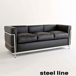 LC2 3人掛け グランドコンフォート おしゃれなデザイン lc2 スティールライン社 イタリア製 ル・コルビュジエ デザイン|furniture-direct