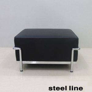 LC2 オットマン  lc2 スティールライン社 イタリア製 ル・コルビュジエ デザイン|furniture-direct