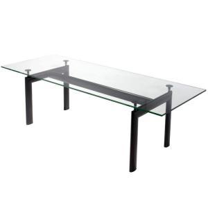 LC6 ガラス テーブル 送料無料 ダイニングテーブル 180mm ル・コルビュジエ デザイン|furniture-direct