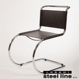 キャンティレバーチェア ミース・ファン・デル・ローエデザイン イタリアレザーフォーム社製 ホワイト|furniture-direct