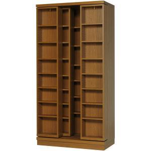 スライド書棚 三重スライド 雅 3m-90 高級 幅900×高さ1780mm 完成品|furniture-direct