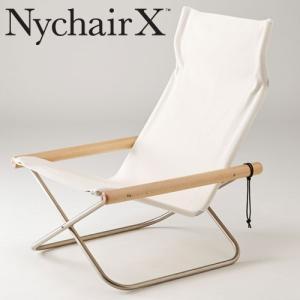 ニーチェア X 本体椅子 送料無料  折りたたみ椅子 ニイチェア ホワイト+ナチュラル|furniture-direct