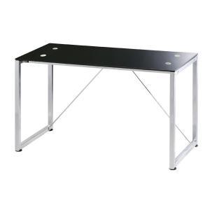 シンプルデスク 格安  スリムデスク Robin ロビン ガラスデスク ブラック|furniture-direct